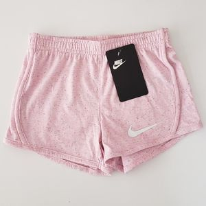 NIKE Girl Speckled Confetti Pink Shorts